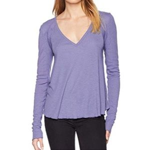 Free People Intimately Lavender V-Neck Thermal